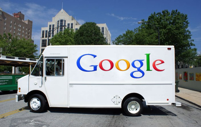 google-delivery truck sized
