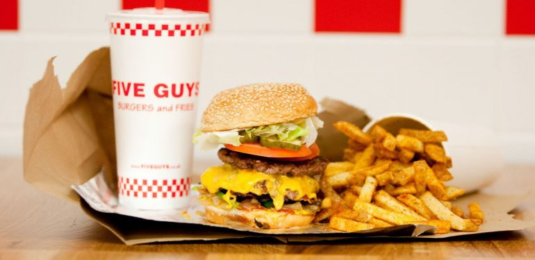 Menu Five Guys Crédit photo L'Express