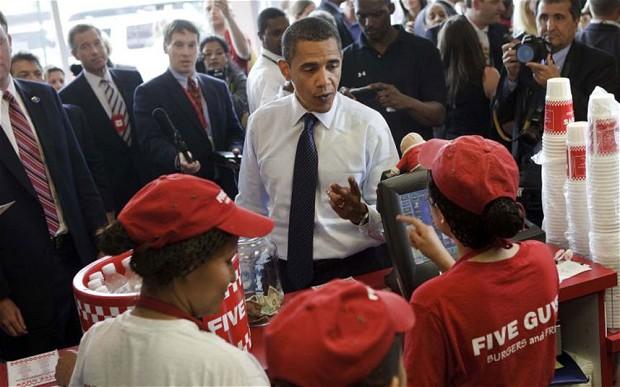 Five Guys Barack Obama Credit Photo Getty